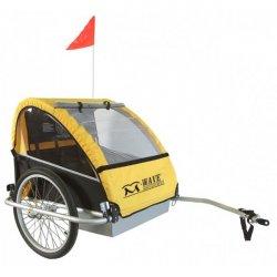 Dětský vozík za kolo M-WAVE pro 2 děti - ocel